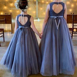 David's Bridal Ball Gown Flower Girl Dress